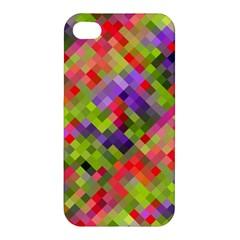 Colorful Mosaic Apple Iphone 4/4s Premium Hardshell Case by DanaeStudio
