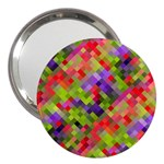 Colorful Mosaic 3  Handbag Mirrors