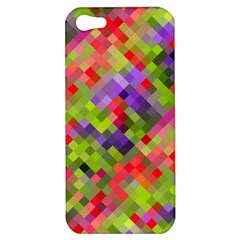 Colorful Mosaic Apple Iphone 5 Hardshell Case by DanaeStudio