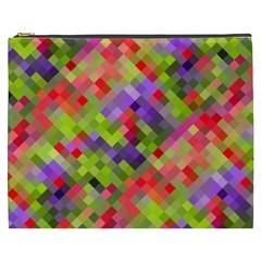 Colorful Mosaic Cosmetic Bag (xxxl)  by DanaeStudio
