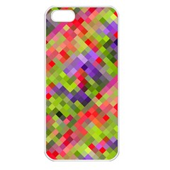 Colorful Mosaic Apple Iphone 5 Seamless Case (white) by DanaeStudio