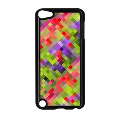 Colorful Mosaic Apple Ipod Touch 5 Case (black) by DanaeStudio