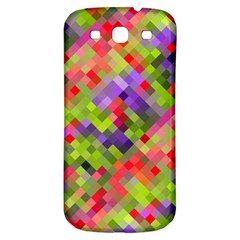 Colorful Mosaic Samsung Galaxy S3 S Iii Classic Hardshell Back Case by DanaeStudio