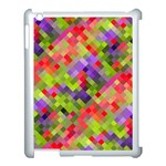 Colorful Mosaic Apple iPad 3/4 Case (White)