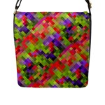Colorful Mosaic Flap Messenger Bag (L)