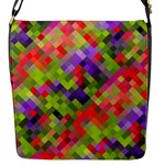 Colorful Mosaic Flap Messenger Bag (S)