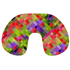 Colorful Mosaic Travel Neck Pillows by DanaeStudio