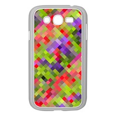 Colorful Mosaic Samsung Galaxy Grand Duos I9082 Case (white) by DanaeStudio