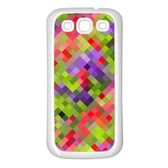 Colorful Mosaic Samsung Galaxy S3 Back Case (white) by DanaeStudio