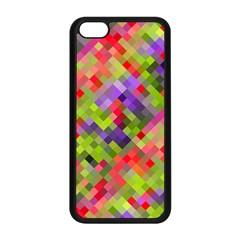 Colorful Mosaic Apple Iphone 5c Seamless Case (black) by DanaeStudio