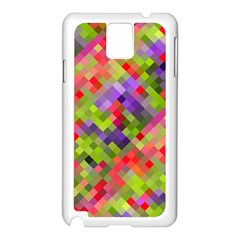 Colorful Mosaic Samsung Galaxy Note 3 N9005 Case (white) by DanaeStudio