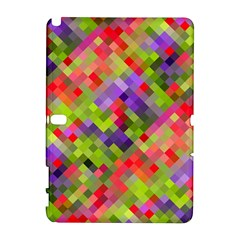 Colorful Mosaic Samsung Galaxy Note 10 1 (p600) Hardshell Case by DanaeStudio