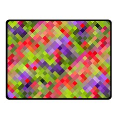 Colorful Mosaic Double Sided Fleece Blanket (small)  by DanaeStudio