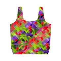 Colorful Mosaic Full Print Recycle Bags (m)  by DanaeStudio