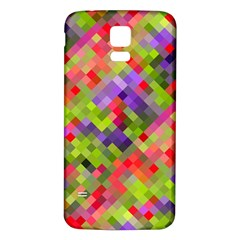 Colorful Mosaic Samsung Galaxy S5 Back Case (white) by DanaeStudio