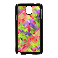 Colorful Mosaic Samsung Galaxy Note 3 Neo Hardshell Case (black) by DanaeStudio