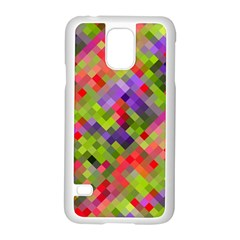 Colorful Mosaic Samsung Galaxy S5 Case (white) by DanaeStudio