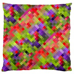 Colorful Mosaic Standard Flano Cushion Case (one Side) by DanaeStudio
