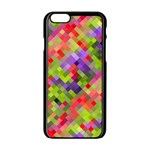 Colorful Mosaic Apple iPhone 6/6S Black Enamel Case
