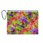 Colorful Mosaic Canvas Cosmetic Bag (L)