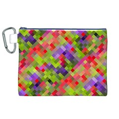 Colorful Mosaic Canvas Cosmetic Bag (xl) by DanaeStudio