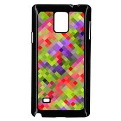 Colorful Mosaic Samsung Galaxy Note 4 Case (black) by DanaeStudio