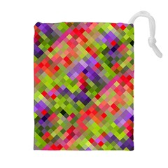 Colorful Mosaic Drawstring Pouches (extra Large) by DanaeStudio