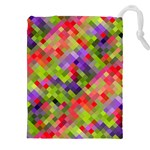Colorful Mosaic Drawstring Pouches (XXL)
