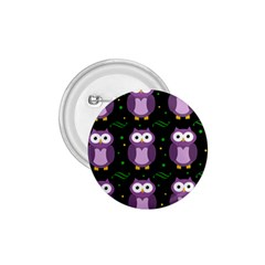 Halloween Purple Owls Pattern 1 75  Buttons by Valentinaart