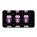 Halloween purple owls pattern Medium Bar Mats