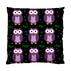 Halloween Purple Owls Pattern Standard Cushion Case (one Side) by Valentinaart