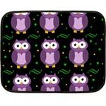 Halloween purple owls pattern Fleece Blanket (Mini)