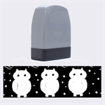 Halloween purple owls pattern Name Stamps