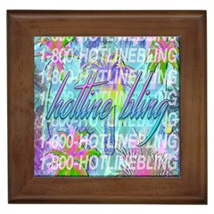 Drake 1 800 Hotline Bling Framed Tiles by Onesevenart