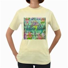 Drake 1 800 Hotline Bling Women s Yellow T Shirt by Onesevenart