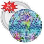 Drake 1 800 Hotline Bling 3  Buttons (100 pack)