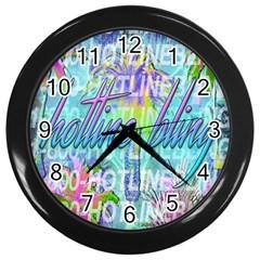 Drake 1 800 Hotline Bling Wall Clocks (black) by Onesevenart