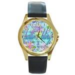 Drake 1 800 Hotline Bling Round Gold Metal Watch