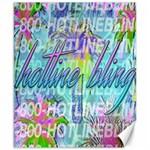 Drake 1 800 Hotline Bling Canvas 8  x 10