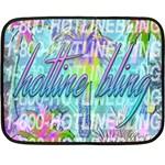 Drake 1 800 Hotline Bling Fleece Blanket (Mini)