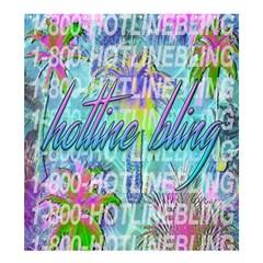 Drake 1 800 Hotline Bling Shower Curtain 66  X 72  (large)  by Onesevenart