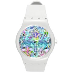 Drake 1 800 Hotline Bling Round Plastic Sport Watch (m) by Onesevenart