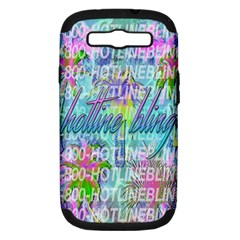 Drake 1 800 Hotline Bling Samsung Galaxy S Iii Hardshell Case (pc+silicone) by Onesevenart