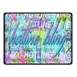 Drake 1 800 Hotline Bling Double Sided Fleece Blanket (Small)