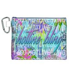 Drake 1 800 Hotline Bling Canvas Cosmetic Bag (xl) by Onesevenart