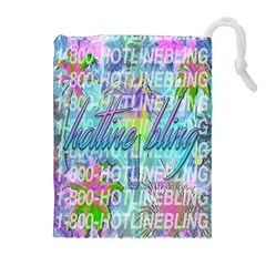 Drake 1 800 Hotline Bling Drawstring Pouches (extra Large) by Onesevenart