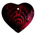 Bassnectar Galaxy Nebula Heart Ornament (2 Sides)