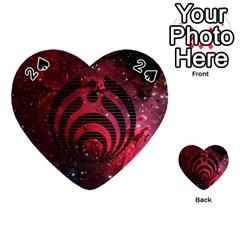 Bassnectar Galaxy Nebula Playing Cards 54 (heart)  by Onesevenart