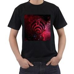 Bassnectar Galaxy Nebula Men s T Shirt (black) by Onesevenart