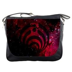 Bassnectar Galaxy Nebula Messenger Bags by Onesevenart
